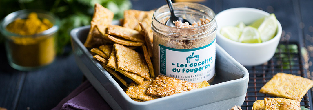 recette crackers curry combava